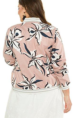 716478 Studio Floral Size Zip Pink Multi Women's Antique Jacket Untold Plus Front 7rqw78R