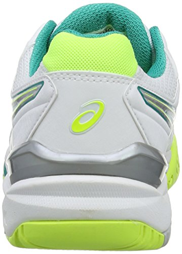 Emerald 188 Asics Green 6 Weiß White Gel Silver Tennisschuhe Resolution Damen pqgx0vfp