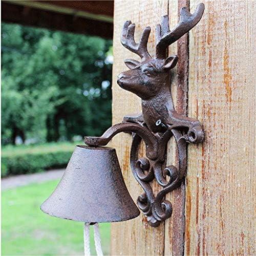 アンティークドアベル 鋳鉄錬鉄製のドアベルアンティークヴィンテージ動物の壁時計金属の壁掛けドア電話任意の家の装飾ベル (Color : C1, Size : As shown)