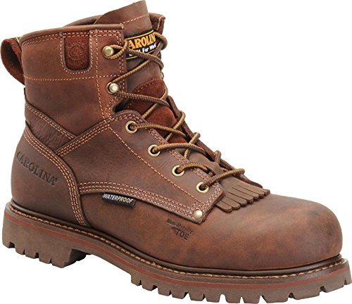 Men's Carolina 6 Inch Waterproof Lug Sole Boot (Carolina Mens Safety Boots)