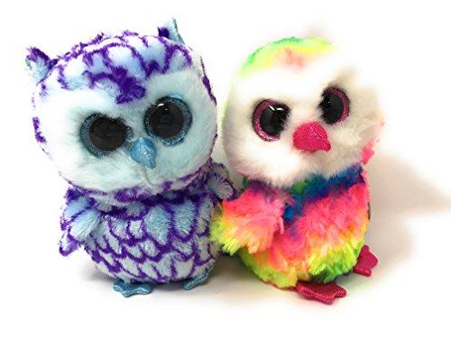 Ty Beanie Boos Set Of 2  Oscar The Owl And Owen The Owl
