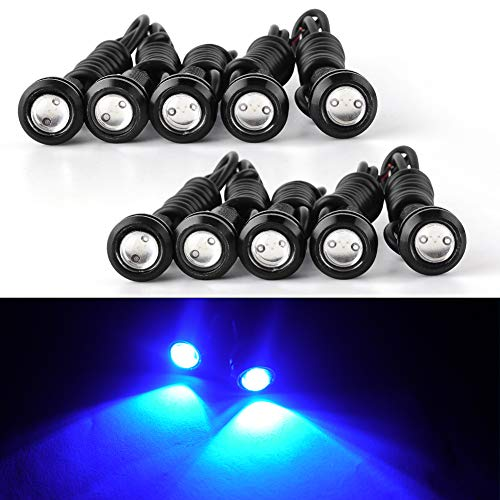 Eagle Eye Led Lights, YINTATECH 18mm Blue Eagle Eye Led Bulb Motorcycle Light Daytime Running DRL Tail Backup Light Car Motor Clearance Marker - Eye Led Eagle Light