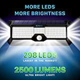 Solar Lights Outdoor Super-Bright 298 LEDs 2500lm