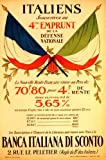 1918 poster shows French  and  Italian flags crossed