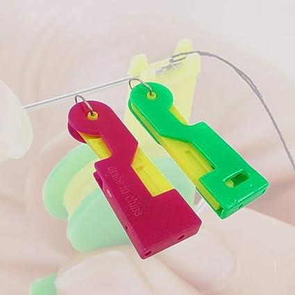 Color Random Needle threader for hand sewing 1 Automatic Needle Threading Device Hand Self Thread Guide Plastic Sewing Needle Threader Automatic needle threader