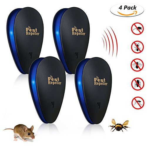 Ultrasonic Pest Repeller (4 PACK) - [2018 UPGRADED] TedGem Electronic Mouse...