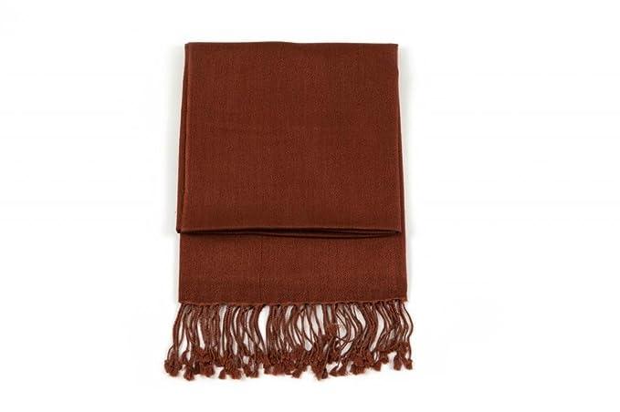 c67715c68 Ritz Collection Women's Pashmina Silk Shawl Brown: Amazon.co.uk ...