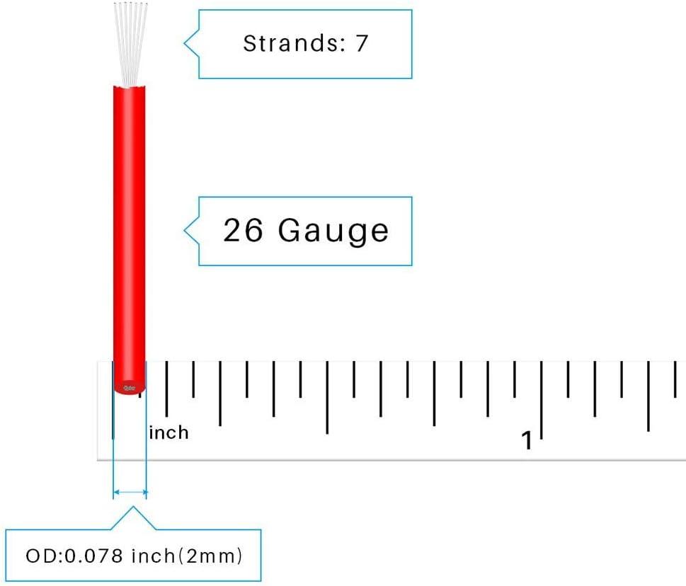 Bntechgo 20/AWG 1007/Fil /électrique en PVC de calibre 20/1007/dor/és Hook Up Fil 300/V Stranded /étam/é Fil de cuivre Jaune 7,6/m par bobine pour DIY