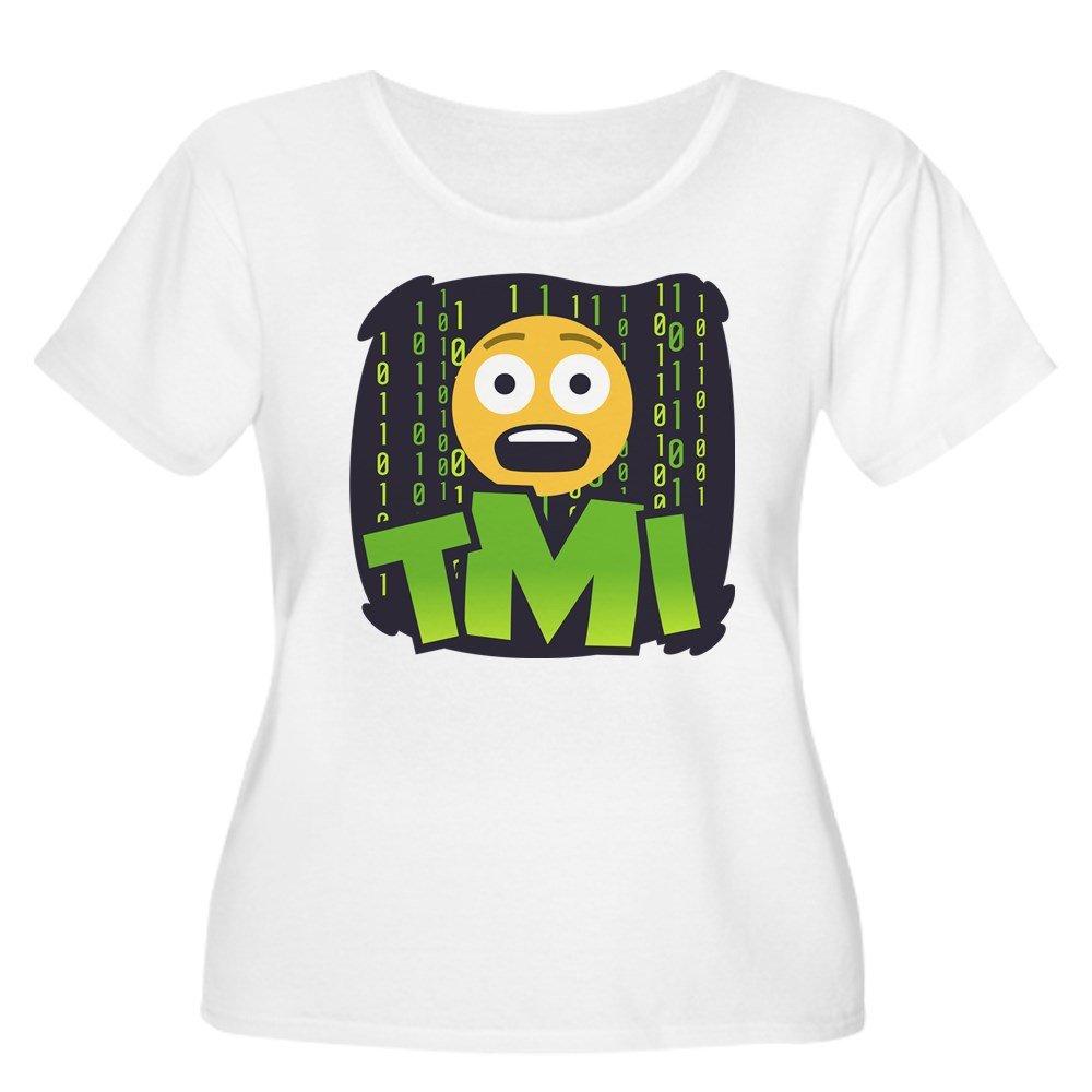 15673b25741 Amazon.com  CafePress Emoji TMI Women s Plus Size Scoop Neck T-Shirt   Clothing