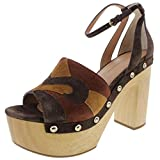 Sigerson Morrison Womens Quentin Suede Platform Sandals Brown 9.5 Medium (B,M)