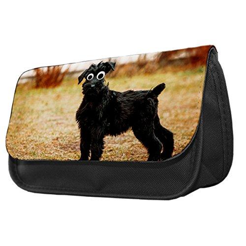 Giant Schnauzer Dog Googley Augen Tier Bleistift Fall/Make-up Tasche 129 tctFSBBtI