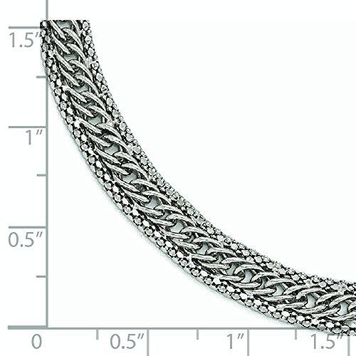 En argent sterling poli Bracelet Lien-20cm