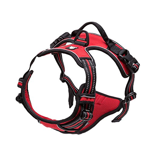 Red SPet harem Pet Chest Harness Dog Leash Strap Explosion Proof Red Dog Leash Chest Back Multiple Sizes And colors Are Available (color   Brown, Size   L)