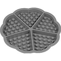 Forma De Silicone Antiaderente Waffles Crocante Gofre Belga