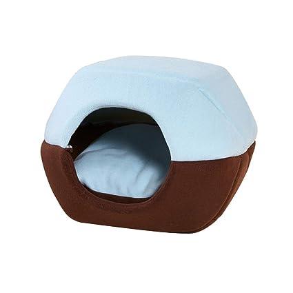 LVAB Hamburguesa de Moda portátil Plegable Pet House Cat Dog House 3 Color 2 Tamaño Opcional