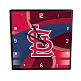MLB St. Louis Cardinals Official Carbon Fiber Square Clock, Multicolor, One Size