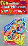 Shaped Rubber Bands - Zoo Animals - 3 Packs of 12