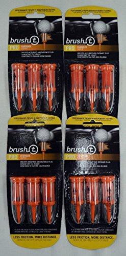 """Brush T Oversize 2.4"""" Golf Tees - Orange - 4 Packs of 3 - 11902"""