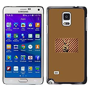 Be Good Phone Accessory // Dura Cáscara cubierta Protectora Caso Carcasa Funda de Protección para Samsung Galaxy Note 4 SM-N910 // Victory Sign Symbol Red White Stripes Poster