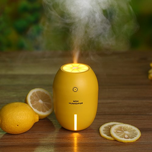 Mini Humidifiers,BIOSTON 180ML Portable Cool Mist Mini USB Ultrasonic Air Humidifier Diffuser with Night Light and Auto Shut-off for Home Car Travel Office Baby Bedroom