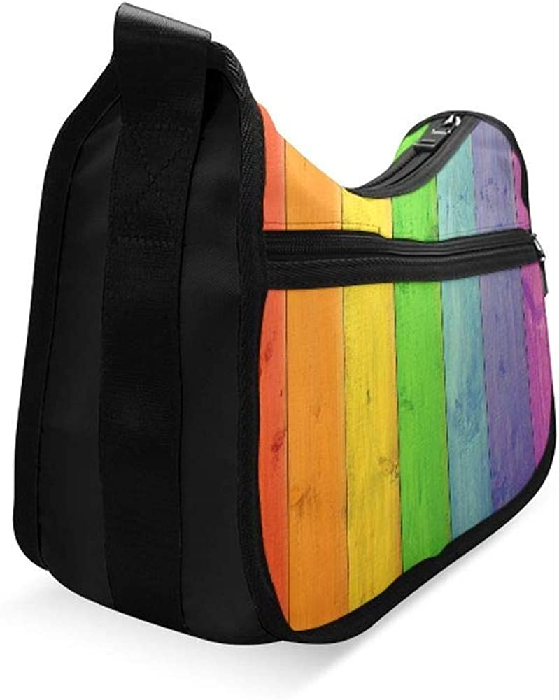 Multicolored Flags In Colors Of Rainbow Messenger Bag Crossbody Bag Large Durable Shoulder School Or Business Bag Oxford Fabric For Mens Womens