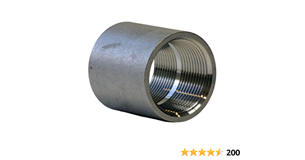 1 X 1//2 NPT Female DN32DN25 Class 150 Reducing Coupling Stainless Steel 304 Cast Pipe Fitting