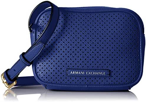 A X Armani Exchange Perforated Pebble Pu Crossbody Bag