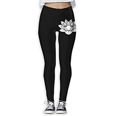 6a3f78dad2486 Lotus Flower Design Floral Yoga Pants Performance Activewear Workout  Leggings Sports Pants Size(S-XL) at Amazon Women's Clothing store: