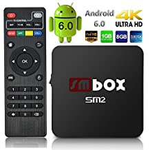 SMBOX 2017 New Android 6.0 4K 1080P TV Box Amlogic S905X Quad-Core 1G+8G 2.4GHz WIFI HDMI
