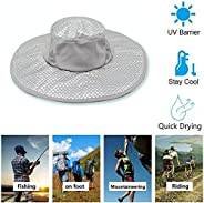 Zooyooart Anti-UV Sunstroke Prevented Evaporative Cooling Hat, Summer Wide Brim Cooling Ice Cap Sun Hat
