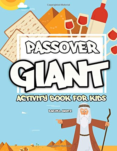Passover Giant Activity Book for Kids: Puzzles, Crosswords, Word Search, Mazes, Find the Difference, Coloring Pages (For Toddlers too) – Black & White - Passover Activity