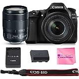 Canon EOS 80D SLR Digital Camera Value Bundle (80D Body + Canon EF-S 18-135mm f/3.5-5.6 IS USM Lens) + Camera Works Microfiber Cloth