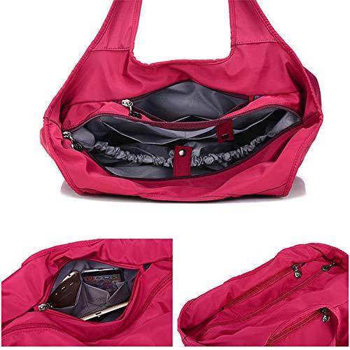 Bolsillo De Multi Black Asas Taihang Mano Mujeres Bolsa Nylon Sólida Compras Las Bolso Color AwnqwF6H