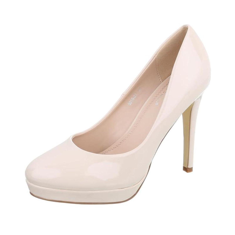 Cingant Woman Damen Pumps/Stilettoabsatz/High Heels/Damenschuhe/Elegante Schuhe/Plateausohle/Beige -
