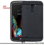 Hello Zone Exclusive Dotted Matte Finish Soft Back Case Cover For LG K10-Black