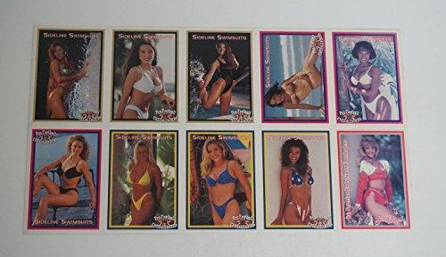 1994 Sideliners Pro Football Cheerleaders Swimsuit Uncut Sheet (10 Cards) (Cheerleader Cards)