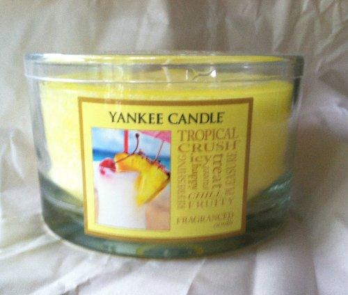 Yankee Candle 17 oz TROPICAL CRUSH 3-Wick Housewarmer Dish Candle