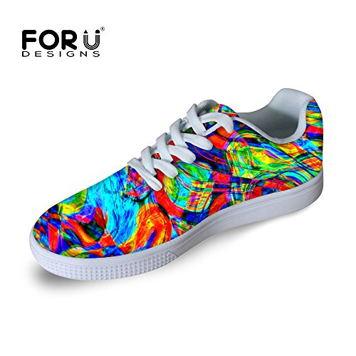 Pour U Conceptions Casual Hommes Graffiti Malow Top Confortable Chaussures De Skateboard Lace-up Sneaker Multi 6