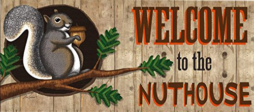 the Nuthouse Decorative Mat Insert, 10 x 22 inches (Welcome Nuthouse)