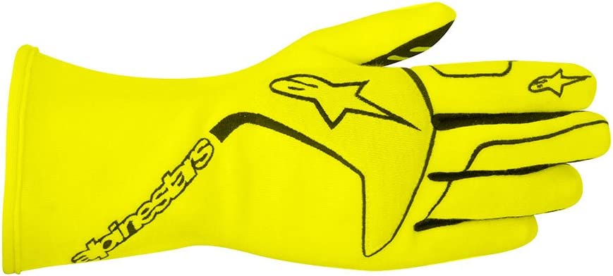 3551116-156-M Black//Orange, Medium Alpinestars TECH 1 Race Gloves