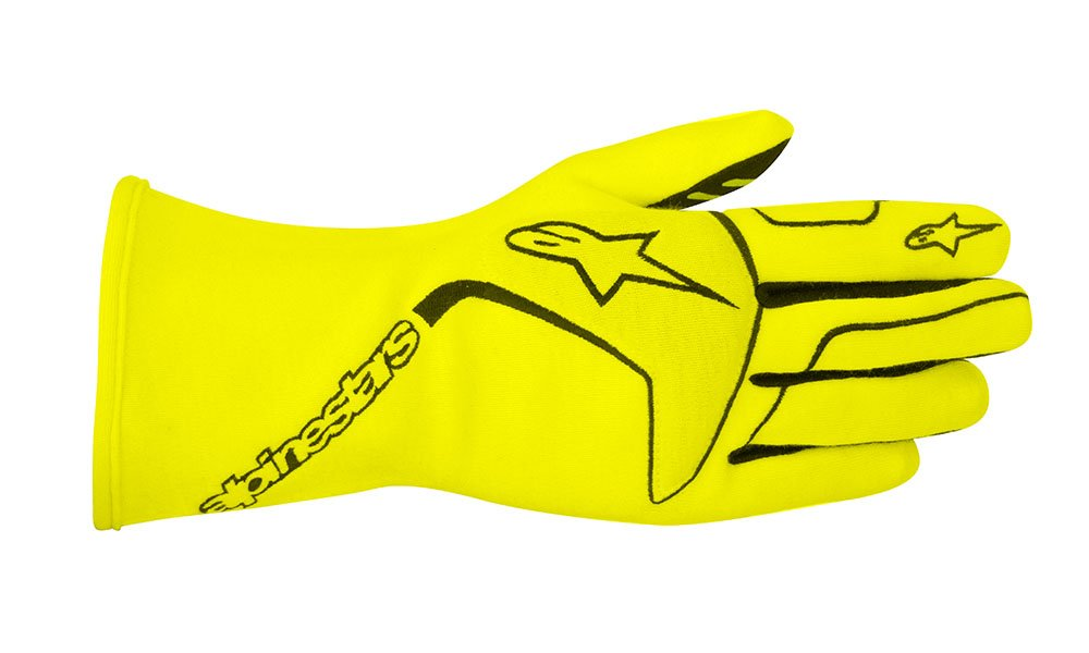 ALPINESTARS TECH 1 RACE GLOVES - YELLOW FLOURECENT - SIZE XL - SFI 3.3 LEVEL 5/FIA 8856-2000 by Alpinestars