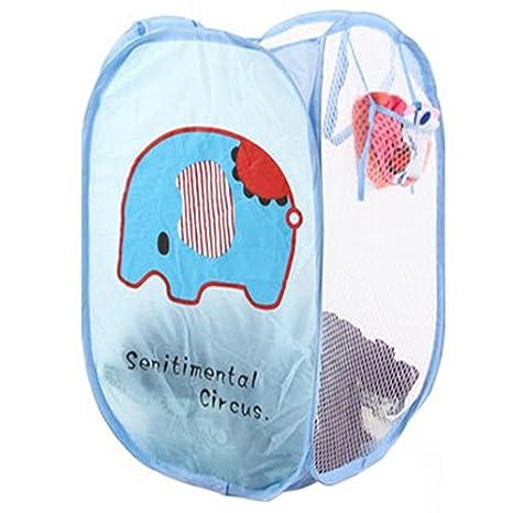 display08 - Cesta plegable para la colada, cesta para la ropa, bolsa de almacenamiento de malla para ropa
