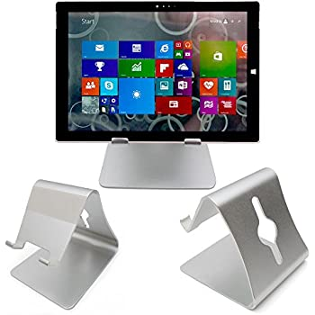 Amazon.com: DURAGADGET, Silver Aluminium Desktop Tablet Stand for Microsoft Surface 2 / Surface