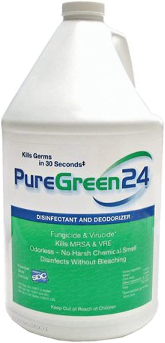 PureGreen24 (Gallon) Disinfectant, Kills deadly Germs including 2020 Flu & NoroVirus without the use of toxic chemicals.