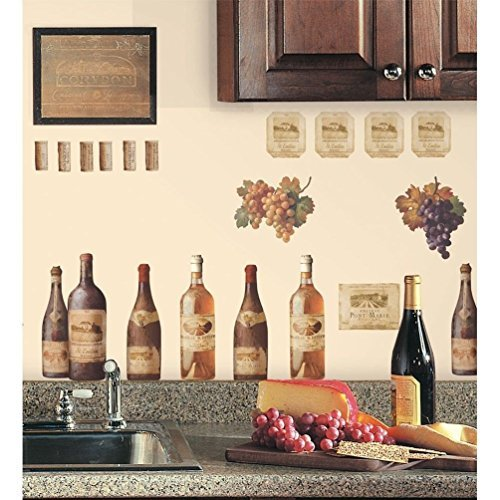 Lunarland WINE BOTTLES 56 Wall Stickers Dining Room Decor Kitchen from Lunarland Wall Stickers