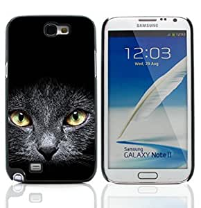 Graphic4You Black Cat Animal Design Hard Case Cover for Samsung Galaxy Note 2 Note II
