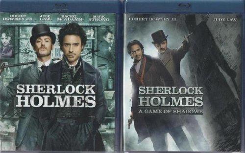 SHERLOCK HOLMES & SHERLOCK HOLMES A GAME OF SHADOWS BLU-RAY Movies - BOTH MOVIES TOGETHER (Robert Downey Jr. & Jude Law)