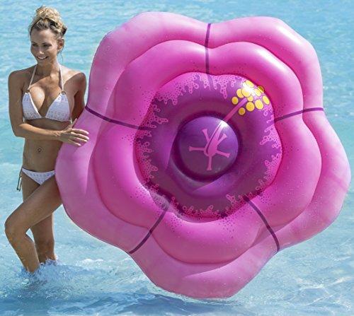 kangaroo luau pool floats hibiscus flower pool raft 6 x. Black Bedroom Furniture Sets. Home Design Ideas