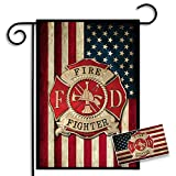 Brotherhood Firefighter American Flag Maltese Cross Garden Flag and American Flag Maltese Cross Car Decal (Stand Not Included) Review