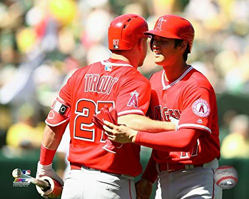 Angeles Photograph Los Angels (Mike Trout & Shohei Ohtani Los Angeles Angels MLB Photo (Size: 8